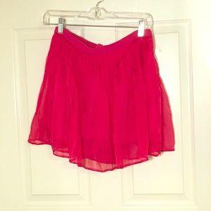 Pants - Pink flowy skort